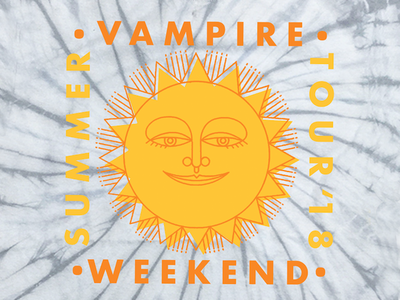 Vampire Weekend Summer Tour '18 sun music merch band shirts bands vampire weekend graphic design illustration design art
