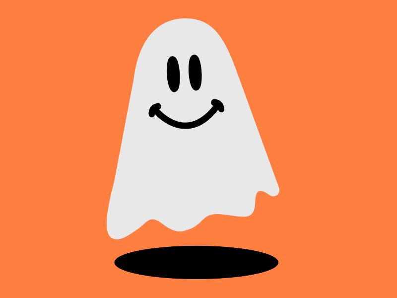 Smiley Ghost smiley halloween ghost vector illustration design graphic design art