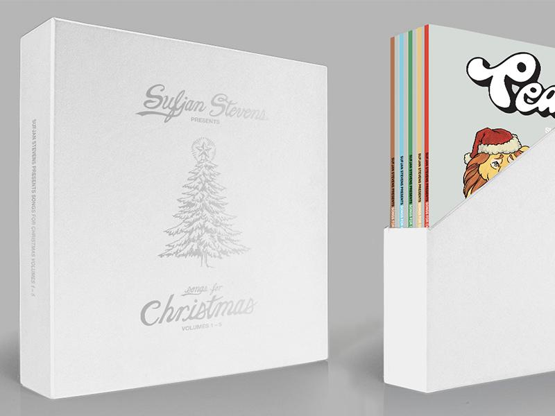 Sufjan Stevens Presents: Songs For Christmas Vol. I - V records vinyl christmas sufjan stevens music bands typography graphic design design art