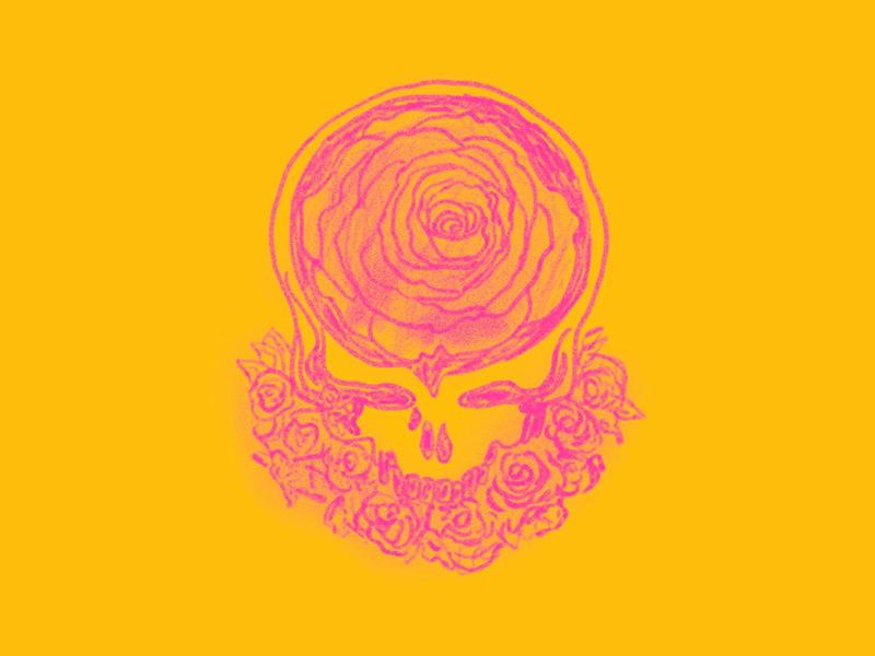 Steal Your Roses drawing stealie steal your face grateful dead illustration design art