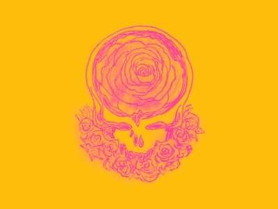 Steal Your Roses drawing stealie steal your face grateful dead illustration design art