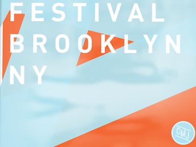 CMJ Poster cmj music festival art design graphic design posters advertising