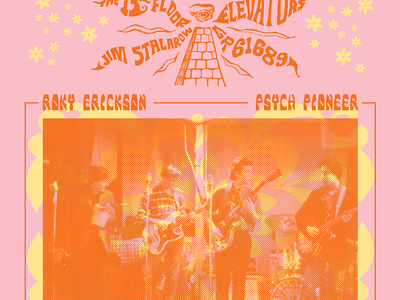 Roky Erickson: Psych Pioneer gig posters posters illustration music bands typography graphic design design art
