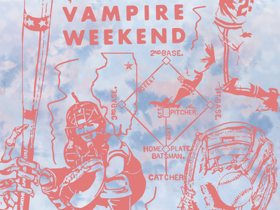 Vampire Weekend & Richard Pictures tees drawing illustration tie dye richard pictures vampire weekend tshirts bands music typography graphic design design art