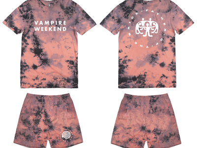 Vampire Weekend Father of the Bride Tour Merch band tees tees merch tie dye color illustration bands music graphic design design art