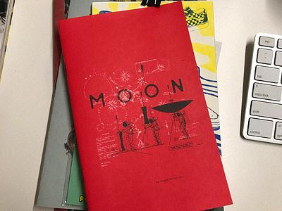 MOON Zine riso risograph zine moon nasa illustration typography graphic design design art