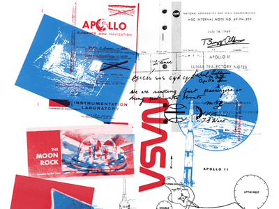 MOON Zine riso risograph zine moon nasa illustration typography graphic design design art