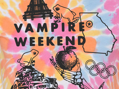 Vampire Weekend Live In Atlanta vampire weekend tie dye tees shirts bands illustration music typography graphic design design art