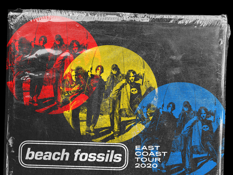 Beach Fossils East Coast Tour 2020 gig posters texture posters bands music typography graphic design design art