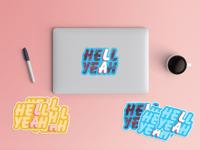 Hell Yeah LA Stickers