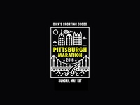 2016 Pittsburgh Marathon Tee - patch v2