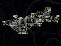 2017 Pittsburgh Marathon Map Tee
