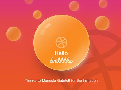 Hello Dribbble! hello dribbble dragon ball invitation first debut thanks