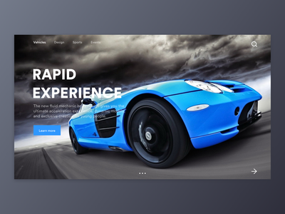 Car web design 视觉设计 car design 蓝色 webdesign color black ux ui