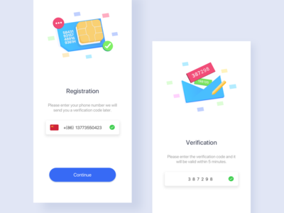 A wallet registration page