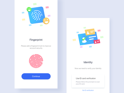 A wallet registration page 2.0 verification code simple registered process guide pages 蓝色 iphonex ux ui 颜色 钱包应用 插图