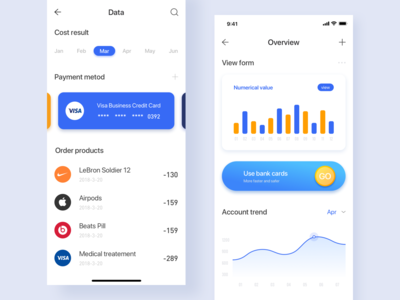 Personal wallet data page design