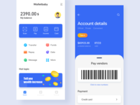 This is a wallet payment page design.