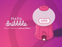 Dribbble gum Machine