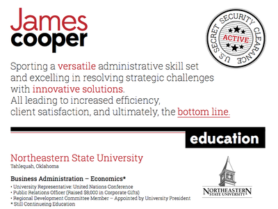 James Cooper Resume Design resume design clean