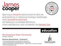 James Cooper Resume Design