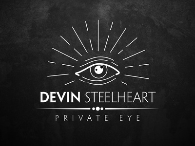 Devin Steelheart Logo private eye noir eye logo