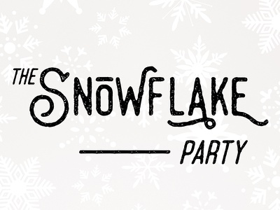 The Snowflake Party typography headline poster logo