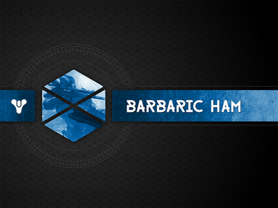Barbaric Ham Twitch Brand pattern hexagon twitch logo brand