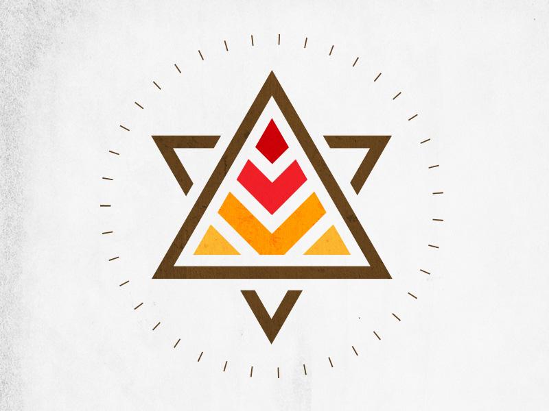 Pyramid Power design logo pyramid