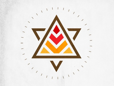 Pyramid Power design logo pyramid