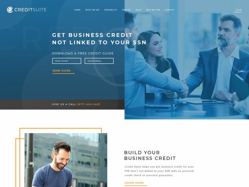 Credit company site design website design