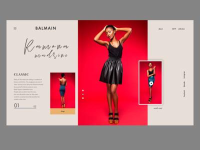 Fashion promo page