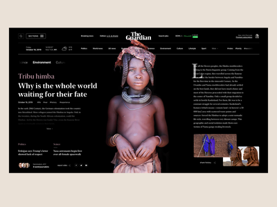 theguardian Digital Newspaper tribu uk new york world news web design ui ux