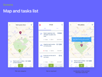 Couriers and Delivery iOS UI kit - FREE ui design couriers delivery app ux templete mockup template ui-kit ux-ui mobile app design ios mobile app uidesign userinterface mobile