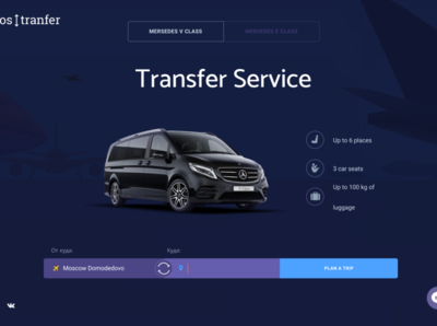 Tranfer taxi service web design website webdesign ux-ui ux ui userinterface