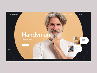 Handyman poland visiontrust handyman animation wordpress website webdesign web ux ui theme onepage design landing page minimalism