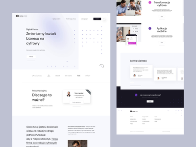 Digital Forms dots white mat jakubowski animation landingpage webdesigner web webdesign onepage ui ux visiontrust poland agency digitalagency minimalist