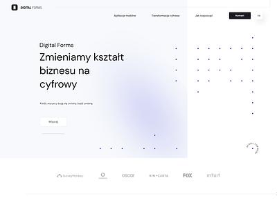 Digital Forms dots white mat jakubowski animation landingpage webdesigner web webdesign onepage ui ux visiontrust poland agency digitalagency minimalist