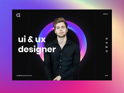Personal website idea branding gradient homepage personal brand personal website landing design ux web ui