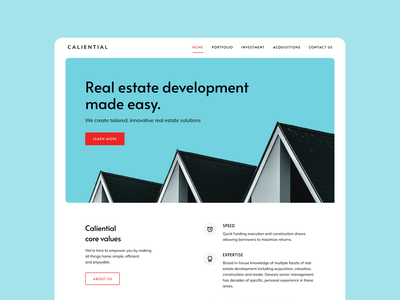 Homepage Exploration - Real Estate agency web design branding landing homepage landing page website design ux web ui real estate agency real estate