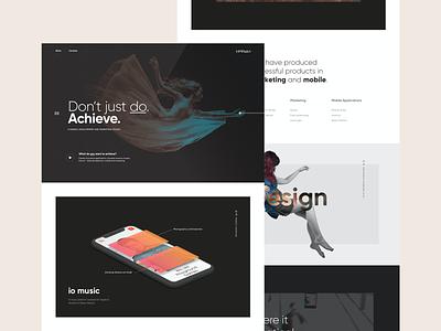 Homepage - 1minus1 web design awwwards typography agency website agency homepage branding website design ux web ui