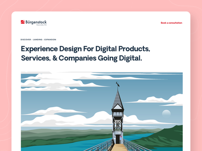 Burgenstock Landing Page illustration agency typography branding design ux ui web homepage landing page