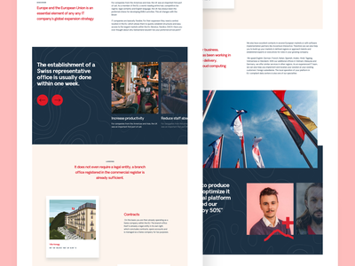 Page Exploration - Burgenstock illustration agency typography landing homepage landing page website design web ui