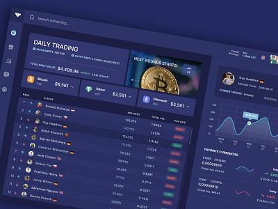 Cryptocurrency trading platform dailyui web dashboard dashboard ui app web app crypto exchange trading app bitcoin design ux ui trading