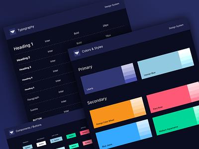 Cryptocurrency - Styleguide mobile typography app branding design system styleguide website design ux web ui