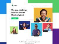 FRED - Social App Landing