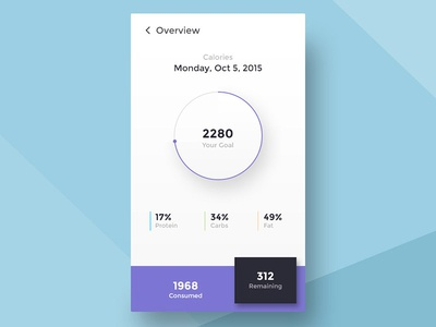 Calories Calculator graph mobile app fitness calorie calculator ios ui