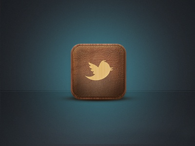 Twitter Leather App Icon by Angelika Omer on Dribbble