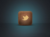 Twitter Leather App Icon
