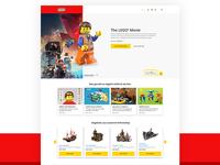 LEGO Website Concept
